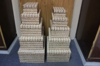 Подарочные коробки - (набор из 10шт) Прямоуг. Канаты  37х29х16см SY605-559