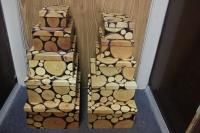Подарочные коробки - (набор из 10шт)  Прямоуг. Пеньки  37х29х16см  SY605-567