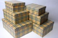 Подарочные Коробки (набор из 10шт) Прямоугольник Шотландка 37х29х16см  SY605-034