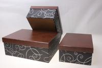 Подарочные коробки - (набор из 3шт) Прямоугольник 27х19,5х10см SD3182