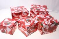 Подарочные Коробки набор куб (14х14х10) К-15 (5 шт.) рисунки в ассортименте