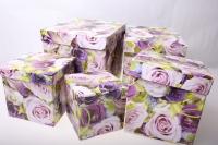 Подарочные коробки набор куб (18х18х18) К-13 (5 шт.) рисунки в ассортименте