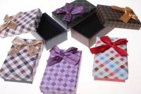 Подарочные коробки - Прямоугольник клетка с бантом 8,2х5,5х3см (24) 12020 цвета и рисунки в ассортименте
