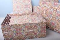 """Подарочные коробки Разноразмерные (набор из 10шт)  """"Прямоугольная Цветы""""  37х28х16см"""