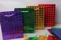 Подарочные пакеты голография 14*20  (20 шт /уп)