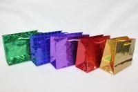 Подарочные пакеты голография (бумажный пакет) - 17х13 (20шт в уп)