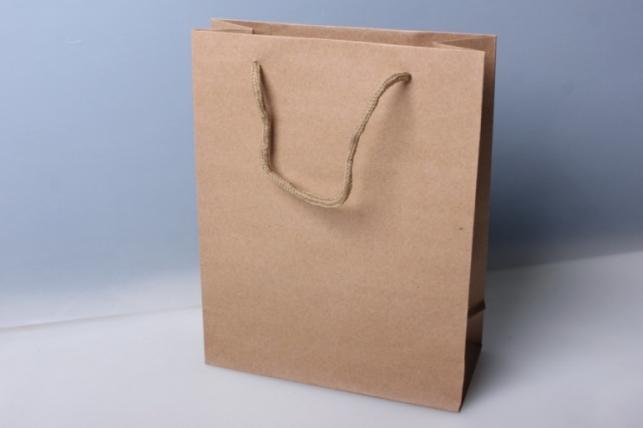 Подарочные пакеты - КРАФТ однотонный 11х14х5 (12 шт/уп)
