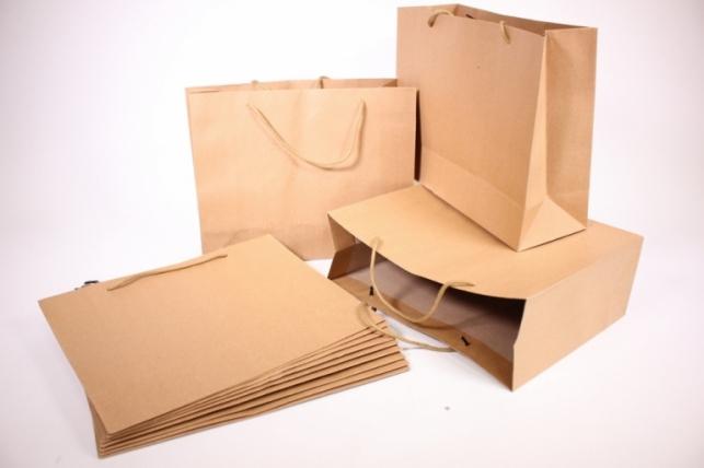 Подарочные пакеты - КРАФТ однотонный (31*25*11)