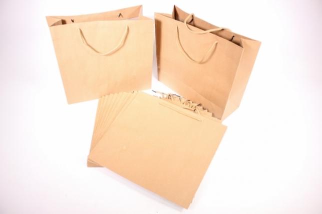 Подарочные пакеты - КРАФТ однотонный 32*29*12 (12 шт/уп)