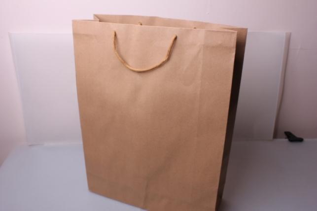 Подарочные пакеты - КРАФТ однотонный (38*50*15) 12шт. в упаковке