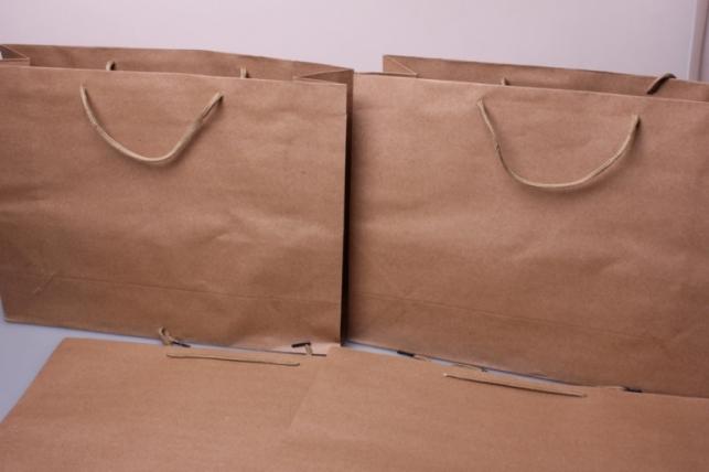 Подарочные пакеты - КРАФТ однотонный 41*31*13  (12 шт/уп)