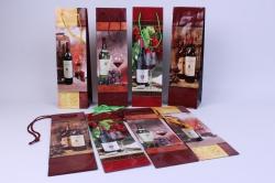 Подарочные пакеты ламинированные - бутылка 10х33 (20шт в уп)