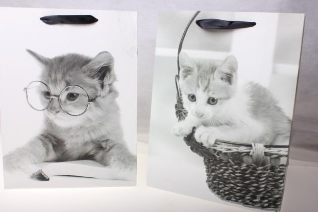 Подарочные пакеты Люкс Кошечки (26х32х10) (12 штук)