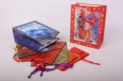 Подарочные пакеты - Сумка  1665-Люкс Новый Год Ассорти (18*23*10)  (6 шт/уп) 18*23LUX-NG
