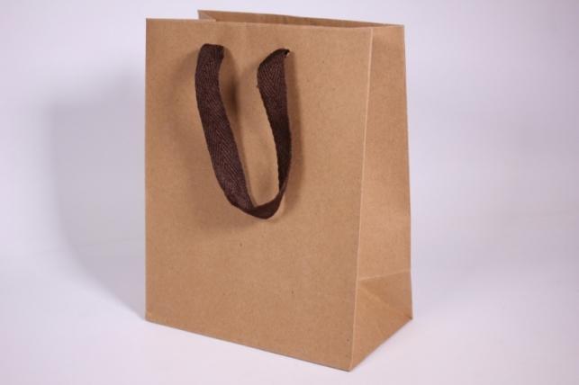 Подарочные пакеты - Сумка  Люкс Крафт однотонная (18*23*10)  (12 шт/уп)  142L