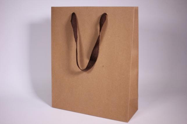 Подарочные пакеты - Сумка  Люкс Крафт однотонная (26*32*12)  (20 шт/уп)  141L