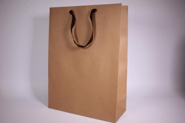 Подарочные пакеты - Сумка  Люкс Крафт однотонная (32*44*13)  (12 шт/уп)  140L