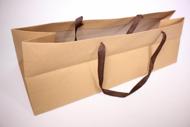 Подарочные пакеты - СумкаЛюксКрафтподЦВЕТЫ(62,5*22,5*20)(12шт/уп)65L