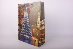Подарочные пакеты - Сумка Люкс  Новый Год Кремль (39*52*15)  (12шт/уп) N5  Цена за 1шт