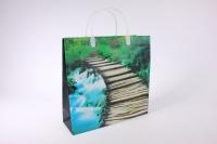 Подарочные пакеты - Сумка мягкий пластик 30*30*10см PE308 Водопад (20шт в уп)