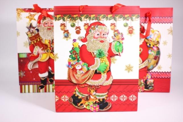 Подарочные пакеты - Сумка (Новый Год) -  Люкс ассорти (12 шт в уп)  10409-29