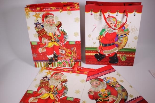 Подарочные пакеты - Сумка (Новый Год) -  Люкс ассорти (12 шт в уп)  10409-30
