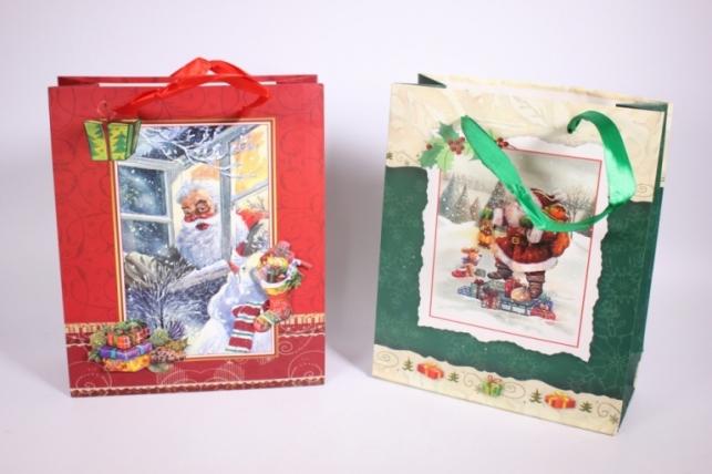 Подарочные пакеты - Сумка (Новый Год) -  Люкс ассорти (12 шт в уп)  С112-S