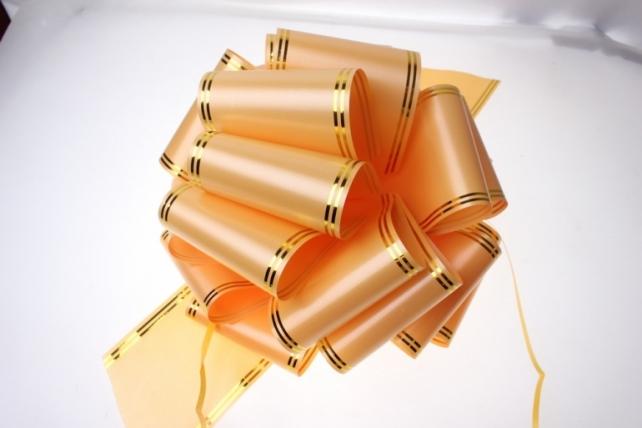 банты праздничные бант-шар гигант  10см  с золотой полосой  (12 шт.) 7804