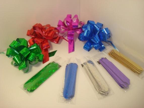 банты праздничные подарочный декоративный праздничный - бант-шар 1,5см  голографический (10шт) 860