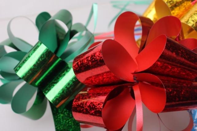 банты праздничные подарочный декоративный праздничный - бант-шар 3см  голографический (10 шт.) 1635