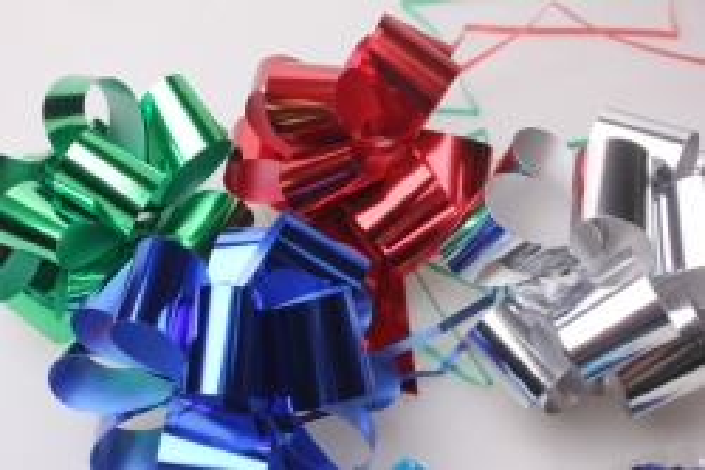 Подарочный Бант из ленты металлизированный 3см (10шт. в упаковке)