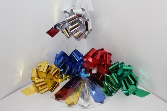 Подарочный Бант из ленты металлизированный 5см (10шт. в упаковке)