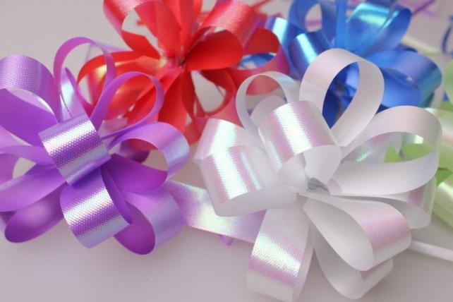 банты праздничные подарочный декоративный праздничный - бант-шар 2см  перлам.   (10 шт.) 529