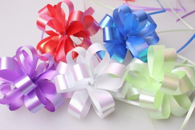 Подарочный Бант из ленты перламутровый 2см (10 шт. в упаковке)