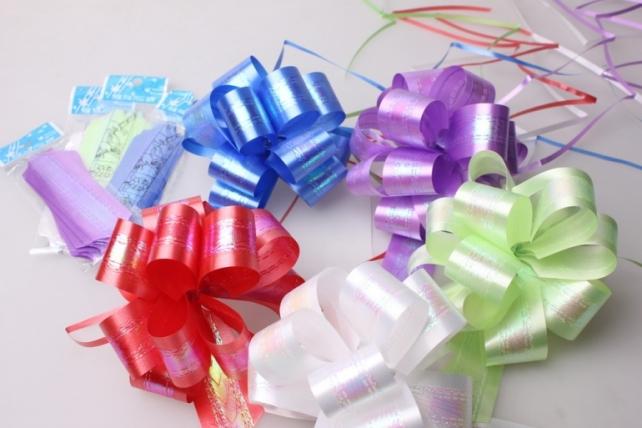 Подарочный Бант из ленты перламутровый 3см (10 шт. в упаковке)