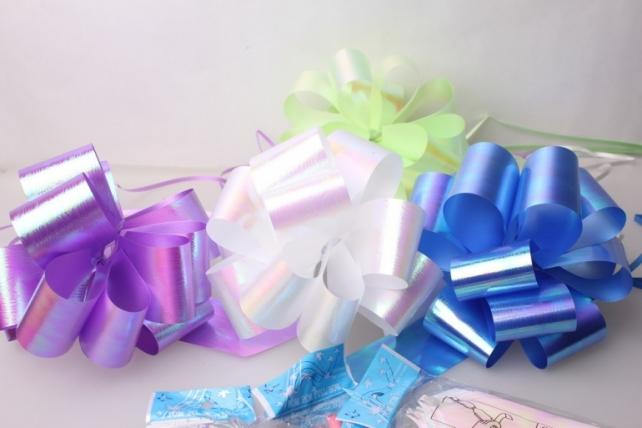 Подарочный Бант из ленты перламутровый 5см (10 шт. в упаковке)