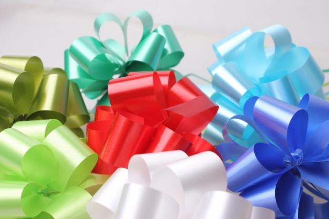 Подарочный Бант из ленты простой 3см (10 шт. в упаковке)