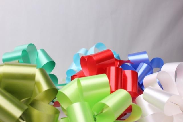 банты праздничные бант-шар 3см  простой цветной  (10 шт.) 1634