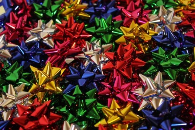 Подарочный Бант из ленты Звезда №2 d=4см  (100шт.)