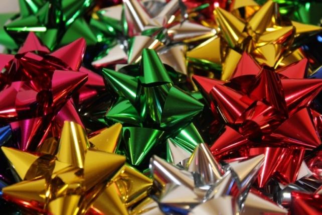 Подарочный Бант из ленты Звезда №3 d=6см  (50шт.)