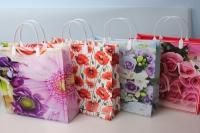 Подарочный пакет мягкий пластик 30х30 - цвета и рисунки в ассортименте