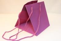 Подарочный пакет  (пластиковый пакет) для горшечных (18х18х18см) - Малиновый