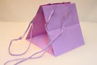 Подарочный пакет (пластиковый пакет) для горшечных (18х18х18см) - Сиреневый