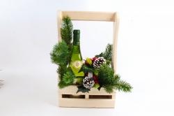Подарочный ящик для шампанского, для 2 бутылок  Дерево, фанера , неокраш Я222-00-0000