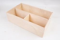 Подарочный ящик из фанеры, 3 отделения   Фанера 8мм, фанера 3мм Я220-00-0000
