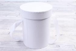 Подорочная коробка одиночная 1шт - Цилиндр белый В53