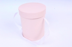 Подорочная коробка одиночная 1шт - Цилиндр розовый  В53