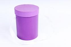 Подорочная коробка одиночная 1шт - Цилиндр сирень  В53