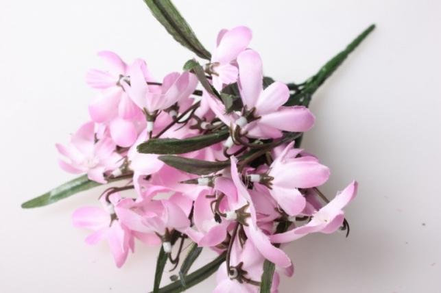 подснежники розовые, букетик 30см