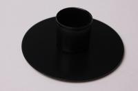 Подсвечник круг черный муар 981104